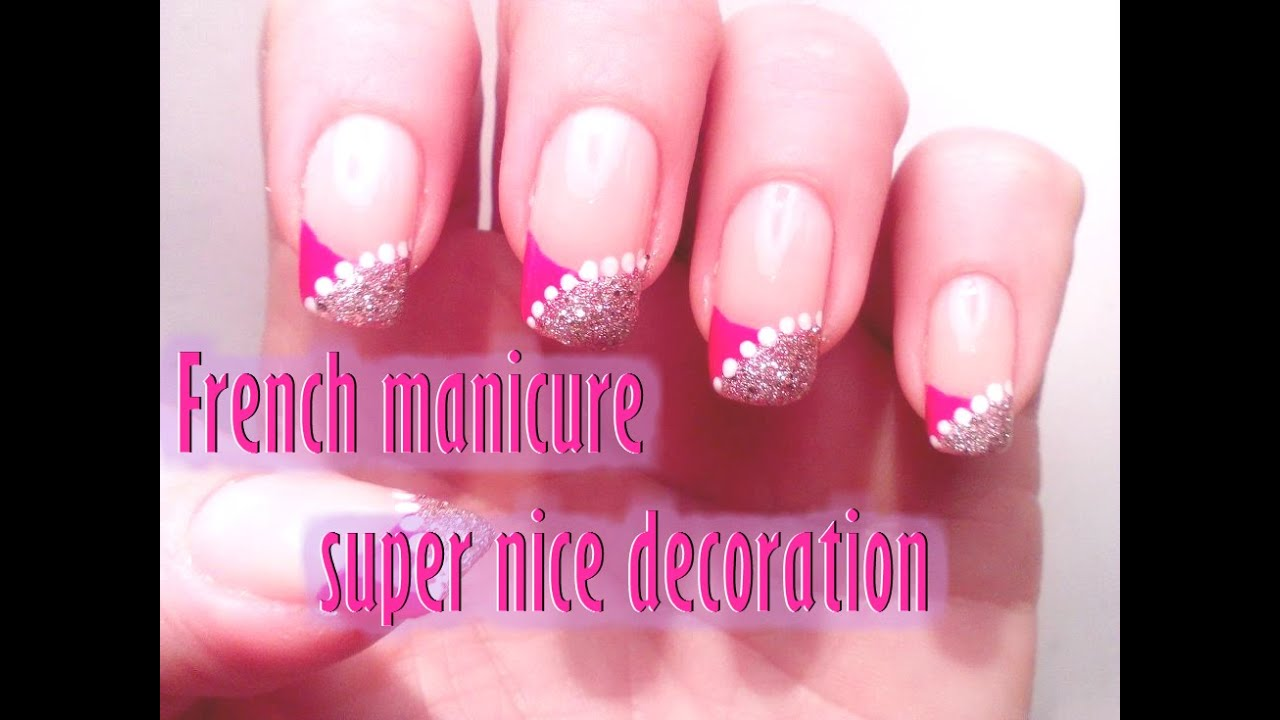 super nice easy french manicure manicura francesa super fcil y bonita