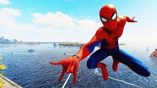 Spider-Man PS4  - Classic Suit Spider-Man Combat, Web Swinging & Free Roam Gameplay