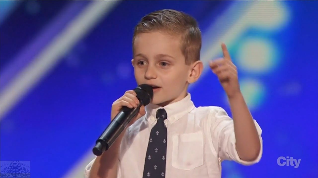 America's Got Talent 2016 Nathan Bockstahler 6 Year Old Stand-up Comedian Full Audition Clip S1