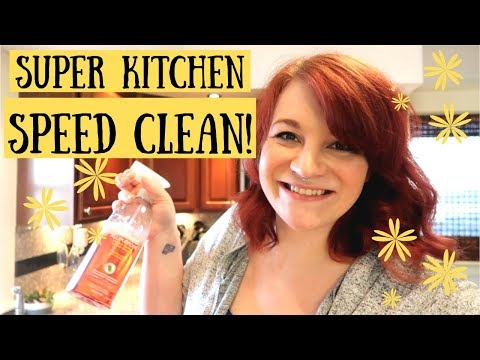 DIRTY KITCHEN SPEED CLEAN! POWER HOUR CLEANING MOTIVATION 2019!