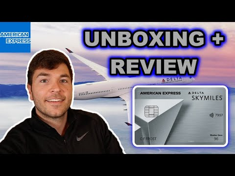 Unboxing NEW Delta SkyMiles Platinum American Express Card