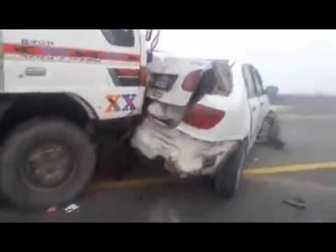motorway horrible accident due to smog fog always buy  auto and life insurance