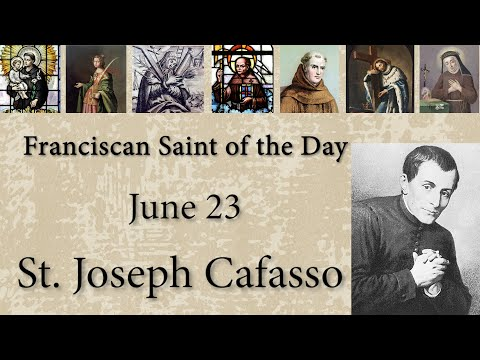 June 23 - St. Joseph Cafasso - Franciscan Saint of the Day