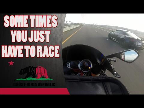 Audi R V vs Triumph Daytona