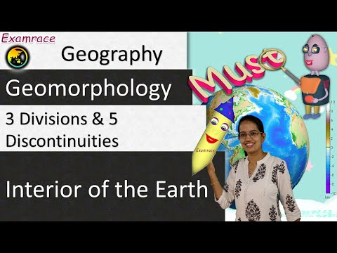 Interior of the Earth: 3 Divisions and 5 Discontinuities
