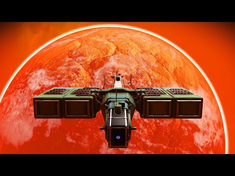 No Man's Sky - Longplay 64 Permadeath - building mining units and transporting TYC industrial goods