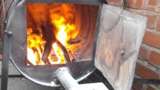 Turbo Charged Wood Boiler Heats Five Floors Of My House. Video 3