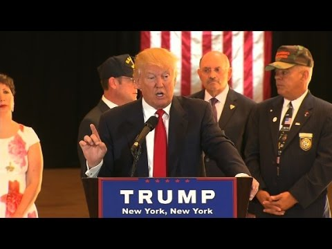 Donald Trump Veterans donations full press conference