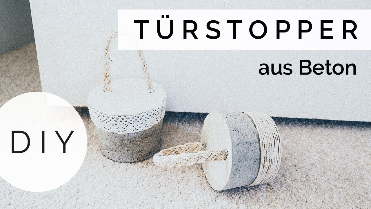 diy t rstopper aus beton selber machen youtube. Black Bedroom Furniture Sets. Home Design Ideas