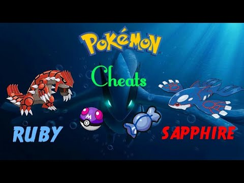 Pokemon Ruby/Sapphire/Sun Ruby  Get Unlimited Rare Candy And Master Ball.Use Cheat Codes.