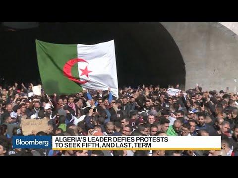Algeria's Leader Defies Protests to Seek Fifth Term