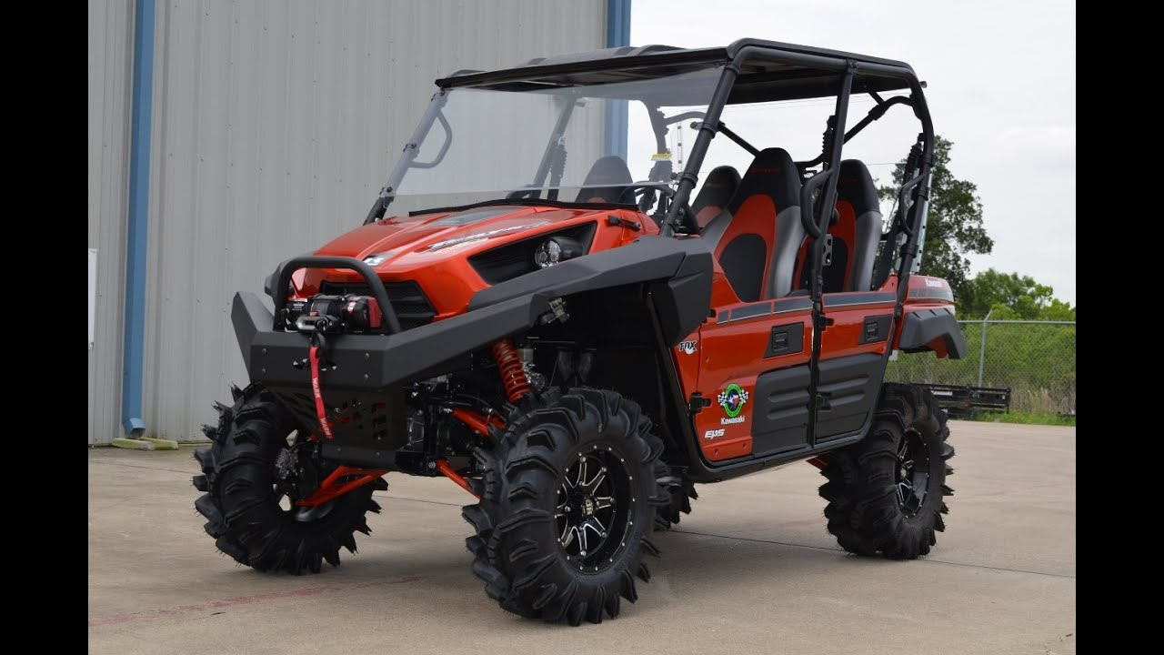 """2015 teryx4 le candy burnt orange with lift, 28"""" terminators and"""