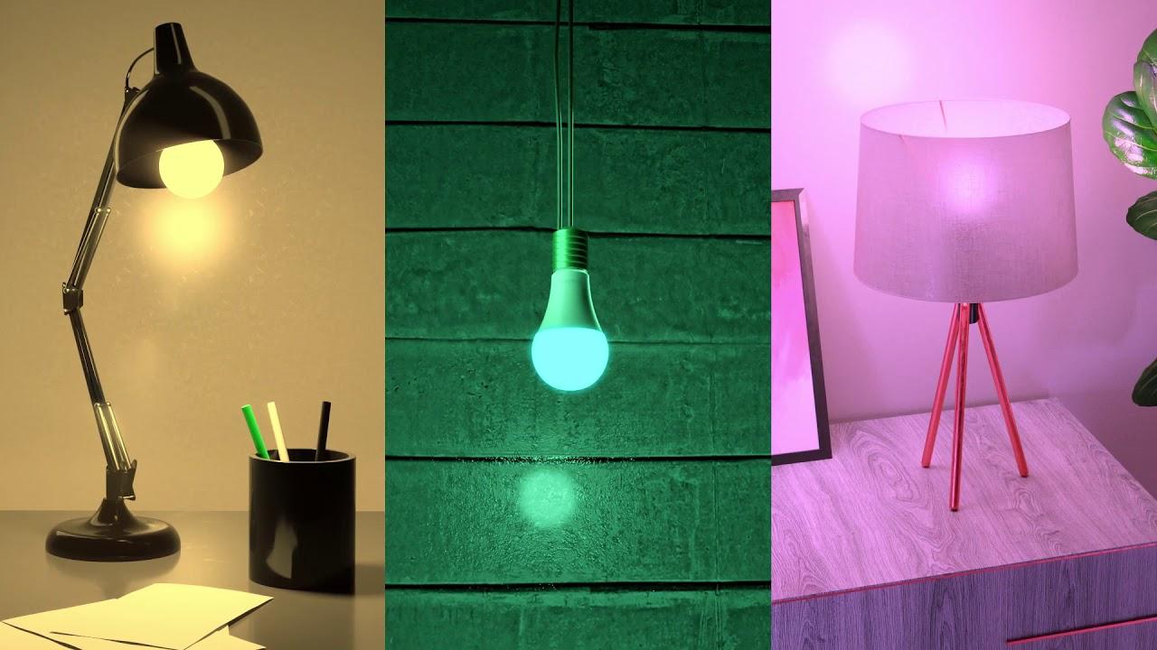 As muitas funcionalidades - e cores - da lâmpada smart deixam as lâmpadas comuns no chinelo.