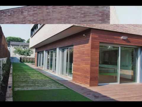 Celosias fachadas y paredes de madera de exterior 01 for Celosia madera jardin