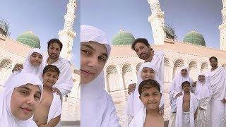 javeria saud latest pics with family performing umrah