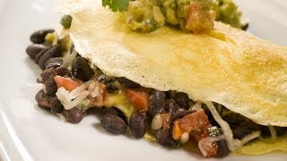 Black Bean Omelet With Avocado Salsa Verde
