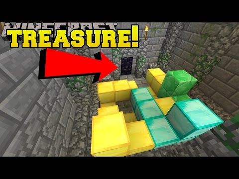 Minecraft: CAN YOU FIND THE TREASURE ROOM?!? - Hidden Buttons 8 - Custom Map [2]