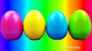 Learn Colors with Slime Surprise Eggs for Children TMNT Dora Spongebob Super Mario Bros