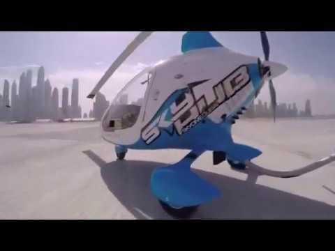 Gyrocopter | Skyhub Dubai Tour | Flying Over Palm Jumeirah Island | Karna Shivaraj