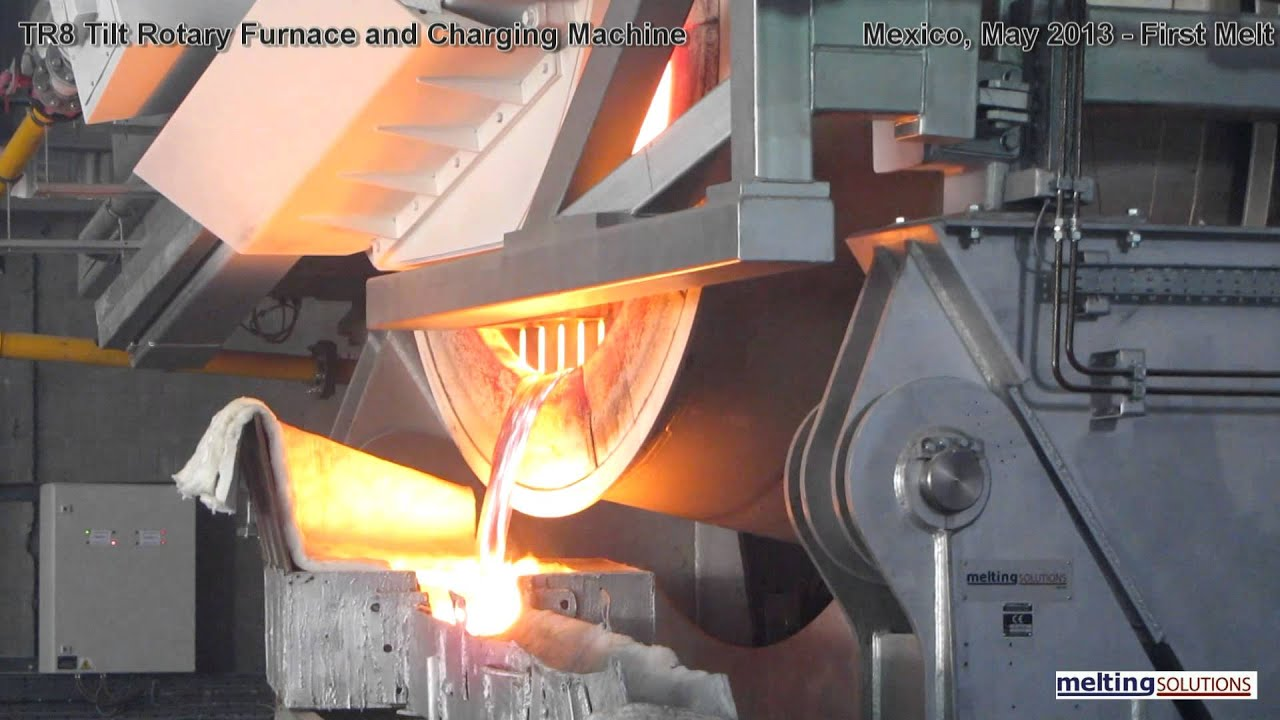 Tilt Rotary Furnaces & Charger - First Melt - YouTube