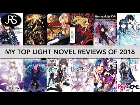 My Top 10 Light Novel Reviews of 2016 - YouTube