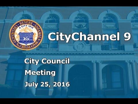 (07/25/16) City Council Meeting