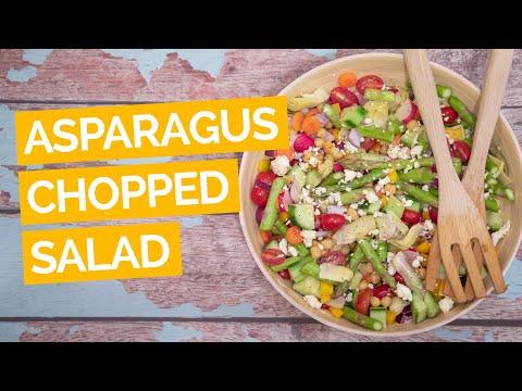 Asparagus Chopped Salad Recipe (Vegetarian)