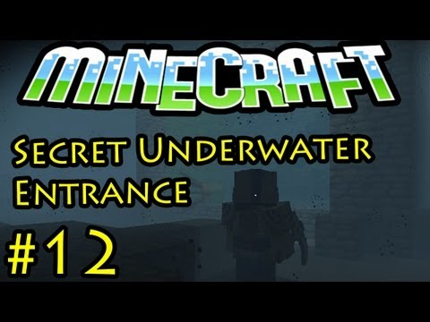 Minecraft: SECRET UNDER WATER ENTRANCE