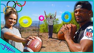 FOOTBALL OLYMPICS TRICK SHOT CHALLENGE!