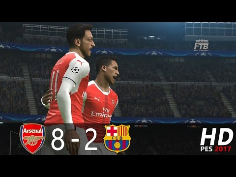 PES 2017 | Arsenal FC vs FC Barcelona | UCL Home & Away | Extended Highlights & Goals