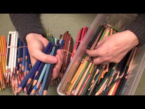 Sorting Pencils (ASMR trigger sounds, soothing, relaxing, intense tingles)
