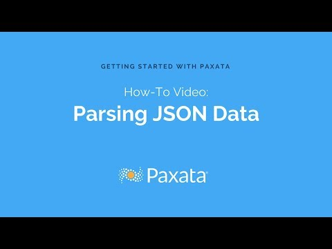 Parsing JSON Data with Paxata Self-Service Data Prep