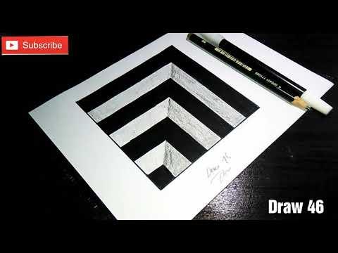 Cara Menggambar 3d Mudah Untuk Pemula Youtube