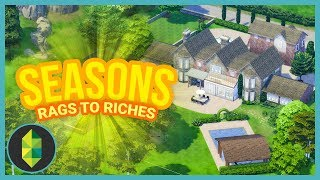 TOUR OF NEW HOUSE - Part 43 - Rags to Riches (Sims 4 Seasons)