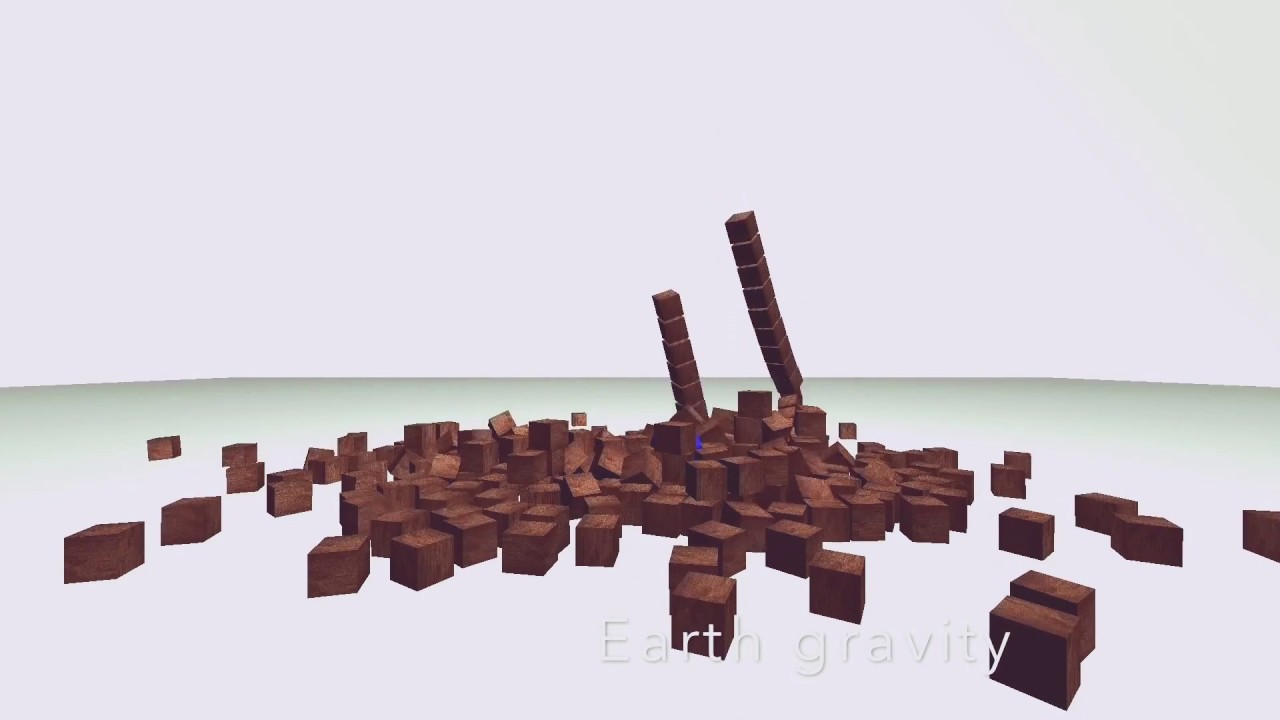 Tower Destruction/Bullet Physics/ Physics Simulation/ Iyan 3D IOS Animation  and Simulation