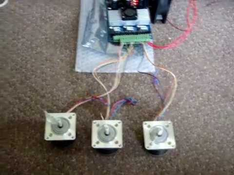 First Run Of Stepper Motors 3 Axis Tb6560 Controller And