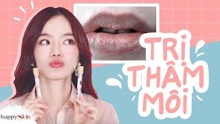 👄 Kinh nghiệm TRỊ THÂM MÔI của Emmi Hoàng | HOW TO TREAT DISCOLORED LIPS | Happy Skin