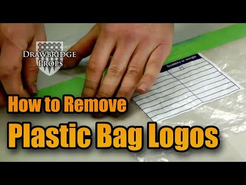 Logo Removal - How to Remove Graphics from Plastic Bags