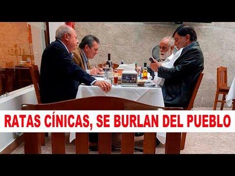 Graban al Jefe Diego comiendo con Romero Deschamps a todo lujo