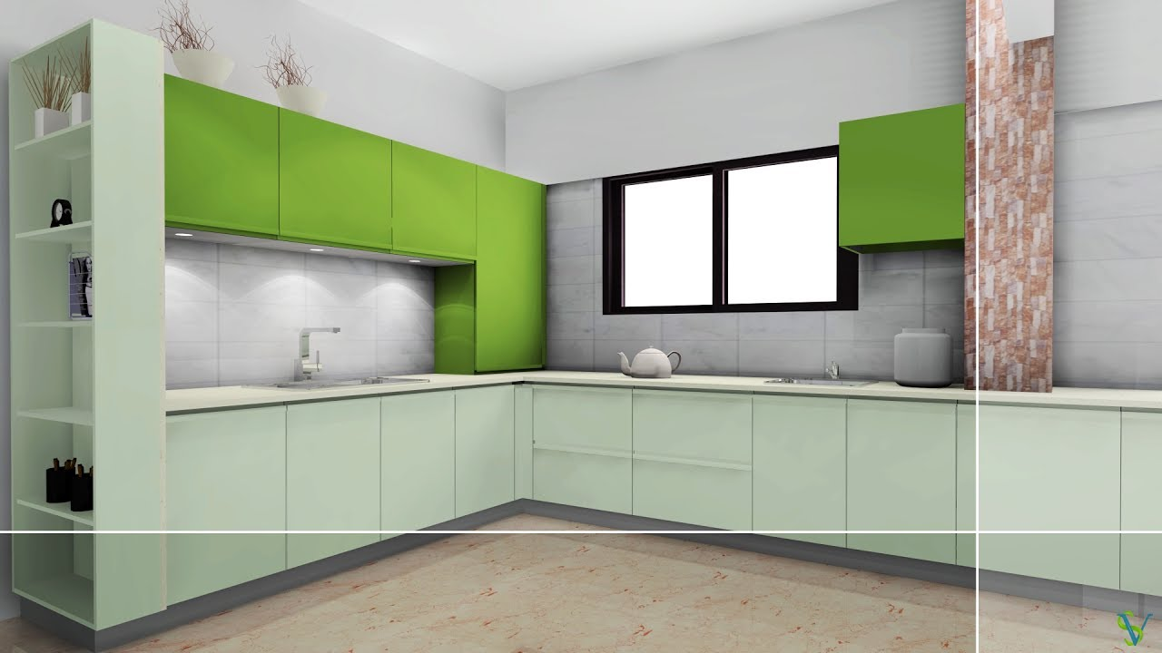 Difficult Kitchen In Easy Way Kd Max Tutorial Youtube