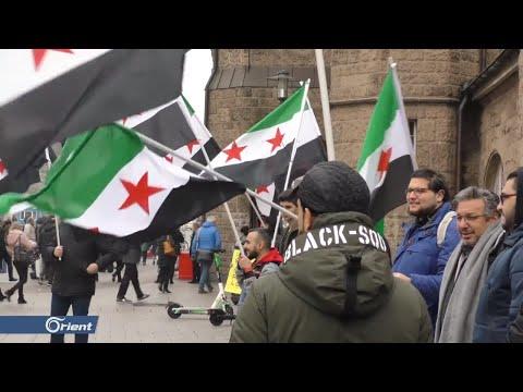 وقفة تضامنية للاجئين سوريين في مدينة هامبورغ الألمانية مع أهالي إدلب  - 12:59-2020 / 1 / 26