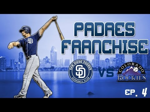 MLB The Show 17: San Diego Padres Franchise: [EP. 4] S1G29 vs COLORADO ROCKIES