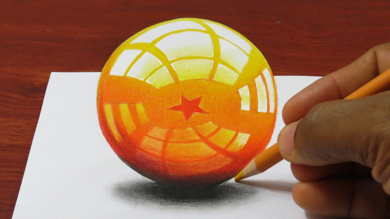 How to draw a 3d dragonball dragon sphere youtube