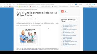 AARP Life Insurance Paid up at 90 No Exam