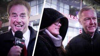 Clinton fans RUN AWAY when asked about Monica Lewinsky! | David Menzies