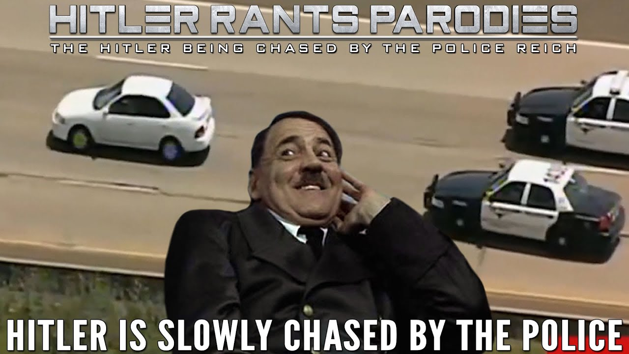 Hitler is slowly chased by the police