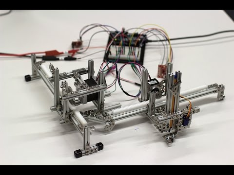X/Y-Plotter with Input from Webcam - Arduino Processing