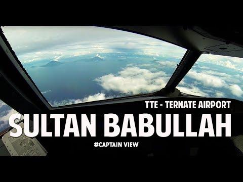 ( CAPTAIN VIEW - Ind ) Airbus A320 Ternate Sultan Babullah Airport Fam - Vincent Raditya Batik Air
