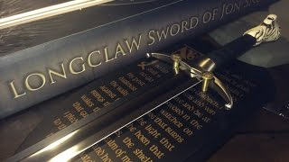 """Game of Thrones: John Snow Longclaw Sword Unboxing! """"Valyrian Steel"""""""
