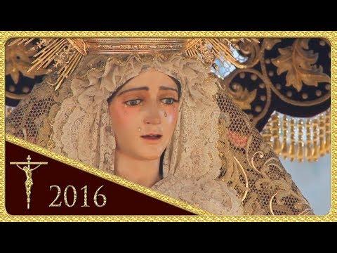 Virgen del Refugio por el puente - Hdad. de San Bernardo (Semana Santa 2016 - Sevilla)